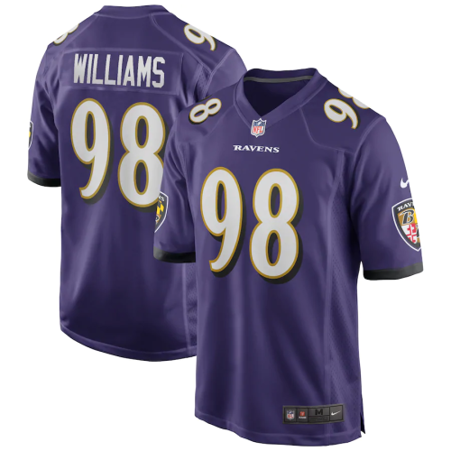 Men's Brandon Williams Purple Team Game Team Jersey