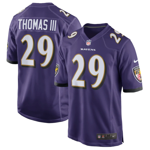 Men's Earl Thomas Purple Game Player Team Jersey