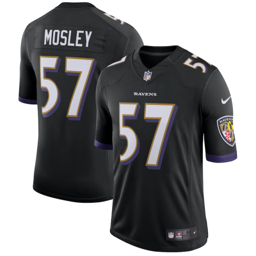Men's C.J. Mosley Black Speed Machine Limited Player Team Jersey