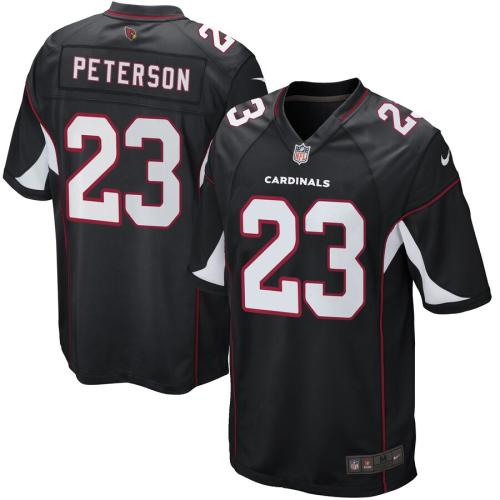 Men's Adrian Peterson Black Game Team Jersey