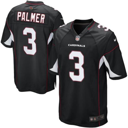 Men's Carson Palmer Black Alternate Game Team Jersey