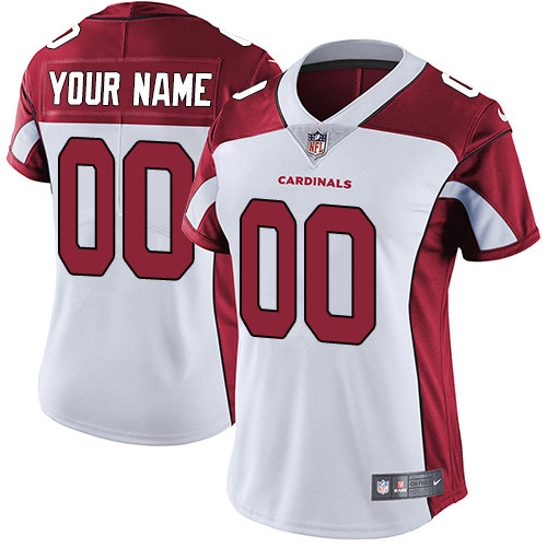 Women's Arizona Cardinals White Customized Game Team Jersey