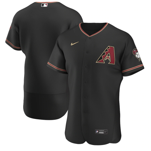 Men's Black Alternate 2020 Authentic Team Jersey