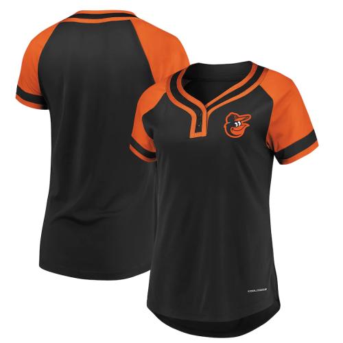 Women's Black Orange Absolute Victory Fashion Jersey