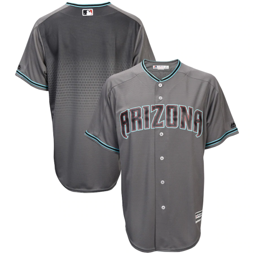 Men's Gray Teal Official Fashion Cool Base Replica Team Jersey