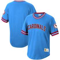 Men's Throwback Light Blue Cooperstown Collection Wild Pitch Jersey T-Shirt