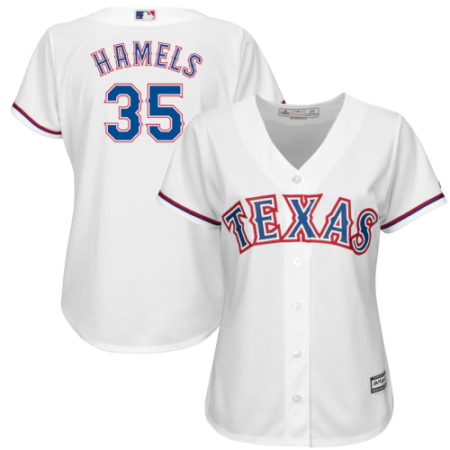 Women's Cole Hamels White Official Cool Base Player Jersey