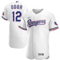 Men's Rougned Odor White Home 2020 Authentic Player Jersey