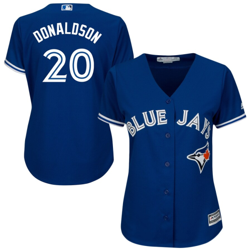 Women's Josh Donaldson Royal Alternate Blue Cool Base Jersey