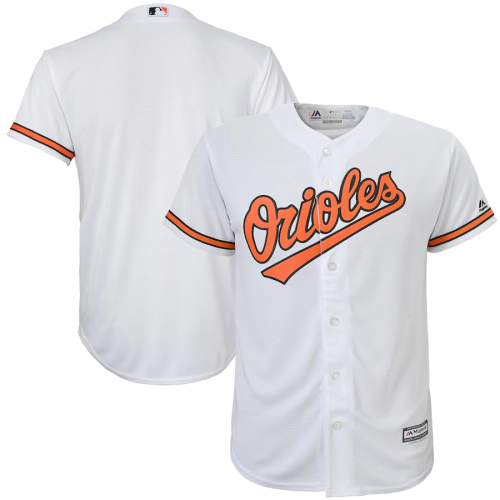 Youth White Home Cool Base Team Jersey