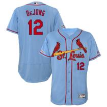 Men's Paul DeJong Horizon Blue Alternate Flex Base Authentic Collection Player Jersey