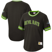 Men's Throwback Black Cooperstown Collection Wild Pitch Jersey T-Shirt