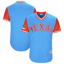 Men's Light Blue Red 2018 Players' Weekend Authentic Team Jersey