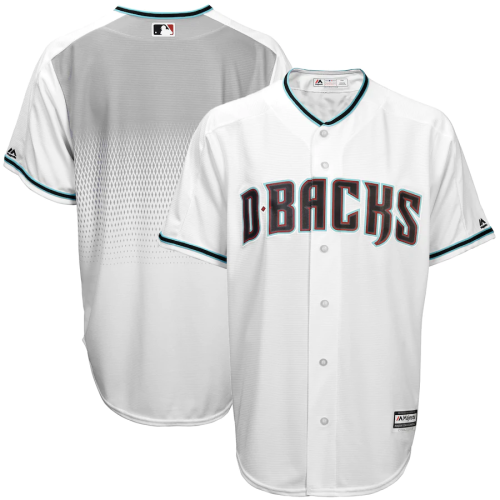Men's White Teal Home Cool Base Jersey