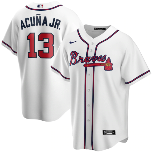 Youth Ronald Acuna Jr. White Home 2020 Replica Player Jersey