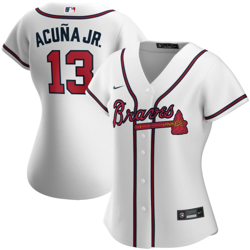 Women's Ronald Acuna Jr.White Home 2020 Replica Player Jersey