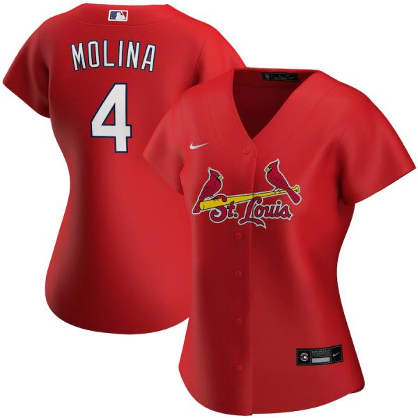 Women's Yadier Molina Red Alternate 2020 Replica Player Jersey
