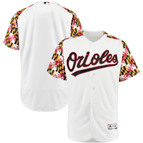 Men's White Maryland Day Turn Back the Clock Authentic Team Jersey
