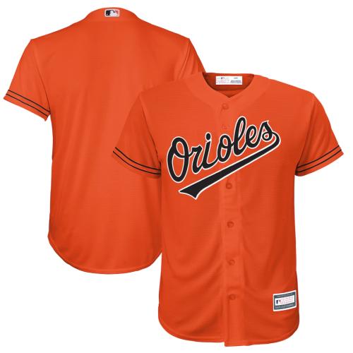 Youth Orange Alternate Replica Blank Team Jersey