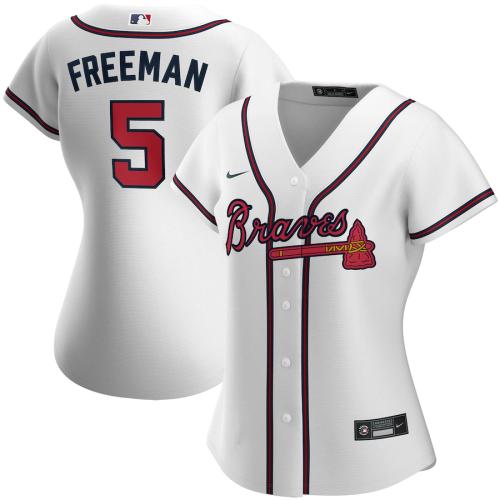 Women's Freddie Freeman White Home 2020 Replica Player Jersey