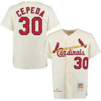 Men's 1967 Orlando Cepeda Throwback Cream Home Authentic Throwback Jersey