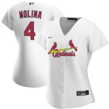 Women's Yadier Molina White Home 2020 Replica Player Jersey