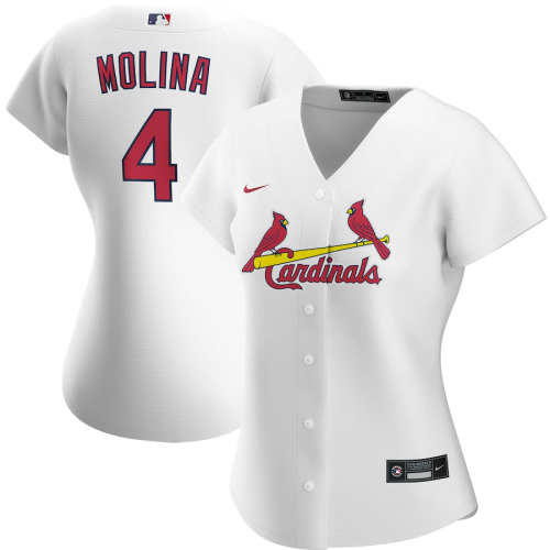 Women's Yadier Molina White Home 2020 Replica Player Jersey