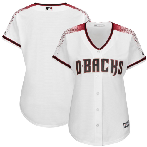 Women's White Sedona Red Home Cool Base Jersey