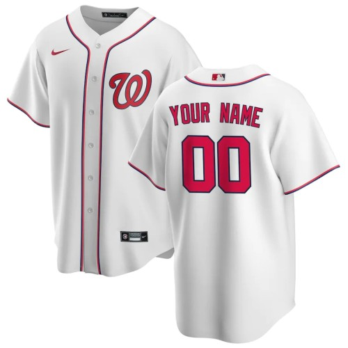 Men's White Home 2020 Replica Custom Jersey