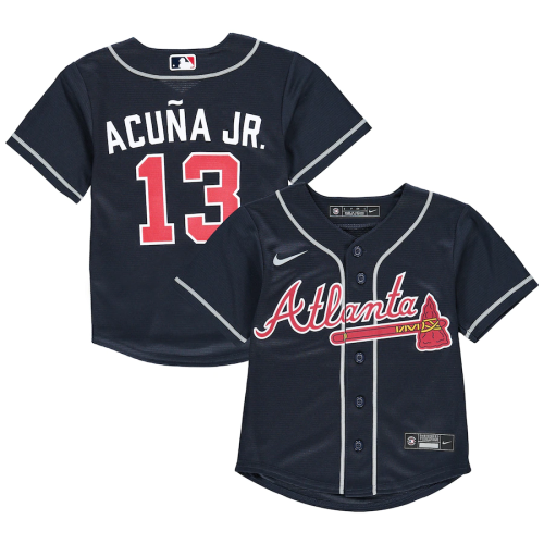 Youth Ronald Acuna Jr.Navy Alternate 2020 Replica Player Jersey