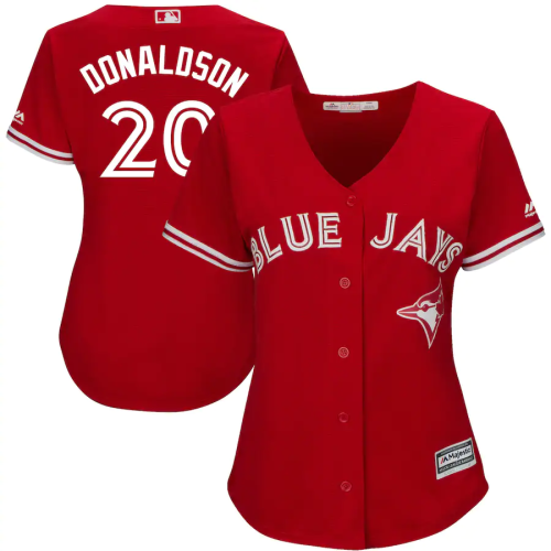 Women's Josh Donaldson Scarlet 2017 Cool Base Replica Player Jersey