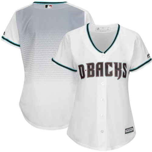 Women's White Teal Home Cool Base Jersey