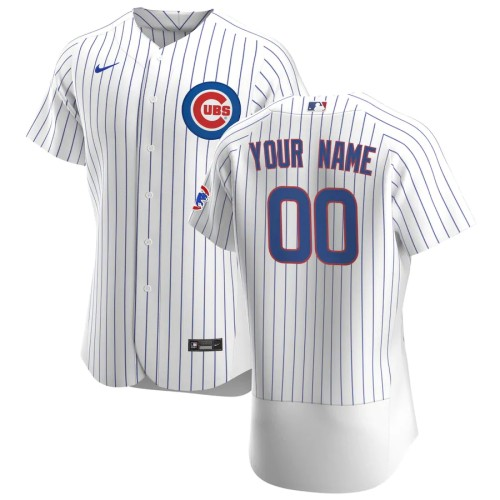 Men's White Royal 2020 Home Authentic Custom Jersey