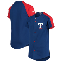 Youth Stitches Royal Logo Button-Down Jersey