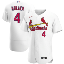 Men's Yadier Molina White Home 2020 Authentic Player Jersey