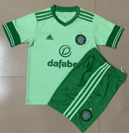 Celtic 20/21 Kids Away Soccer Jersey and Short Kit