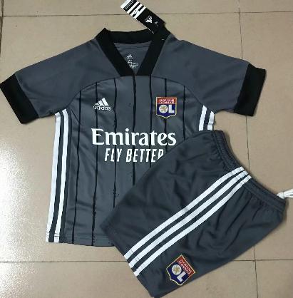 Olympique Lyonnais 20/21 Away Soccer Jersey and Short Kit