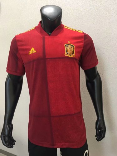 Player Version Spain 2020 Home Authentic Jersey