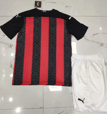 AC Milan 20/21 Home Soccer Jersey and Short Kit
