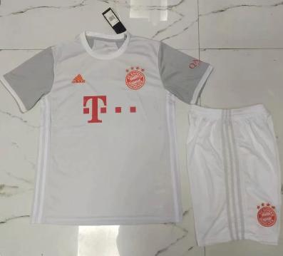 Bayern Munich 20/21 Away Soccer Jersey and Short Kit