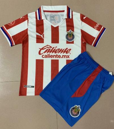 CD Guadalajara 20/21 Kid's Home Soccer Jersey and Short Kit