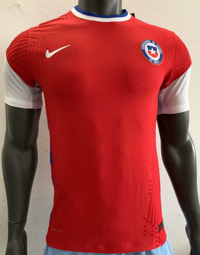 Player Version Chile 2020 Home Authentic Jersey