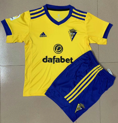 Cadiz 20/21 Kids Home Soccer Jersey and Short Kit