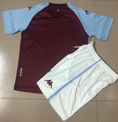 Aston Villa 20/21 Kids Home Soccer Jersey and Short Kit