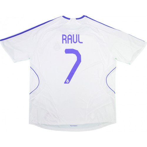 Real Madrid 2007-2008 Home Retro Jersey Raul #7