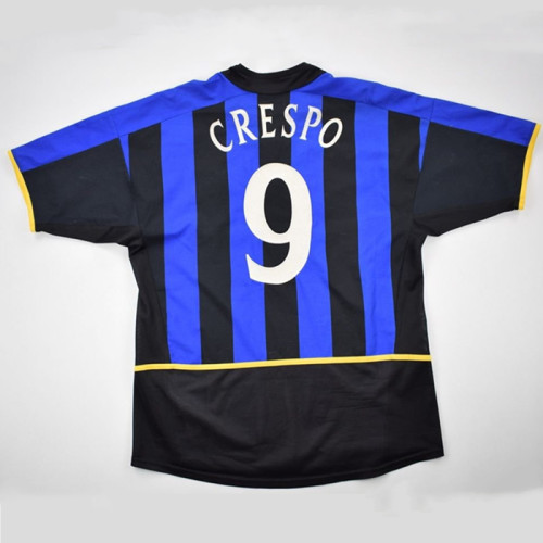 Inter Milan 2002/2003 Home Retro Jersey Crespo #9