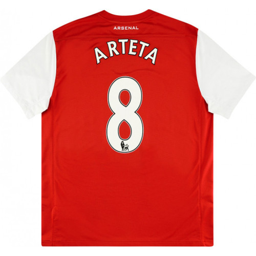 ARS 2011/12 Home Retro 125th Anniversary Jersey Arteta #8