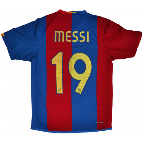 Barcelona 2006/2007 Home Retro Jersey Messi #19