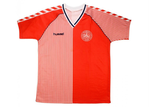 Denmark 1986 Home Retro #2 Player Jersey