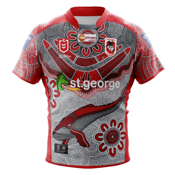 St George Illawarra Dragons 2020 Men's Indigenous Rugby Jersey